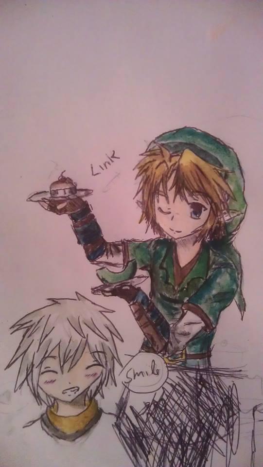 Sketch of link, in color