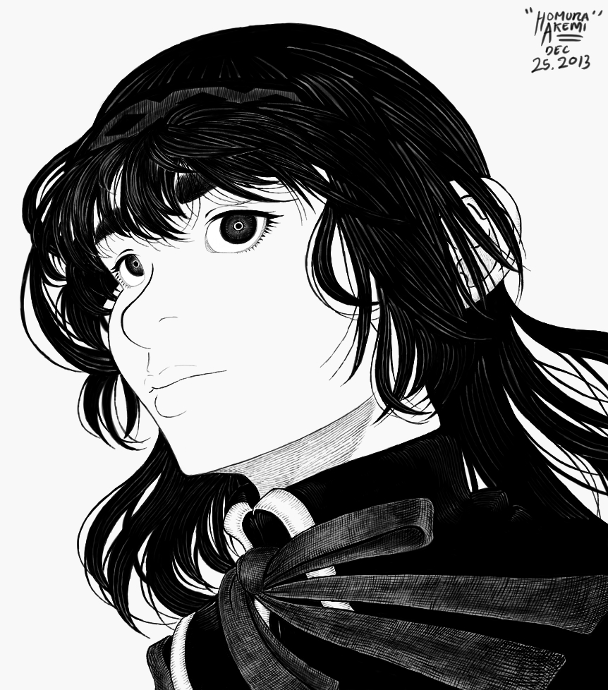 A simple drawing of Homura~