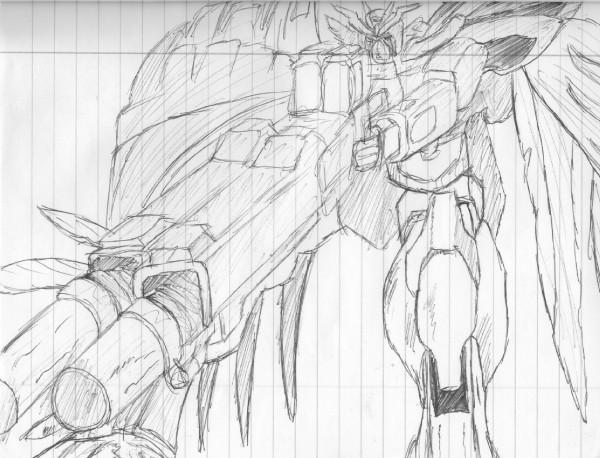 Gundam Wing Drawing