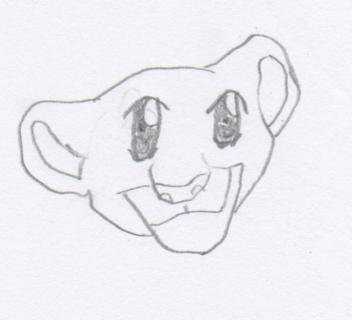Anime Baby Lion