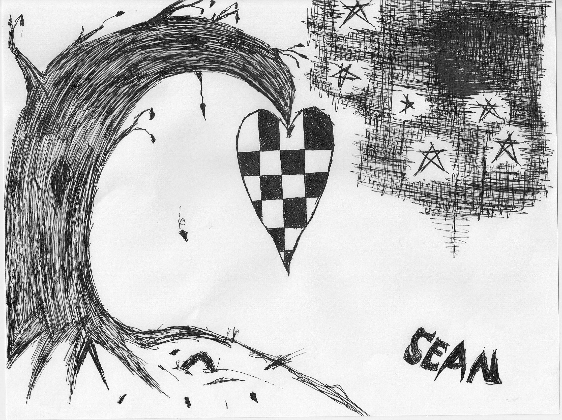 Checkered Heart Tree