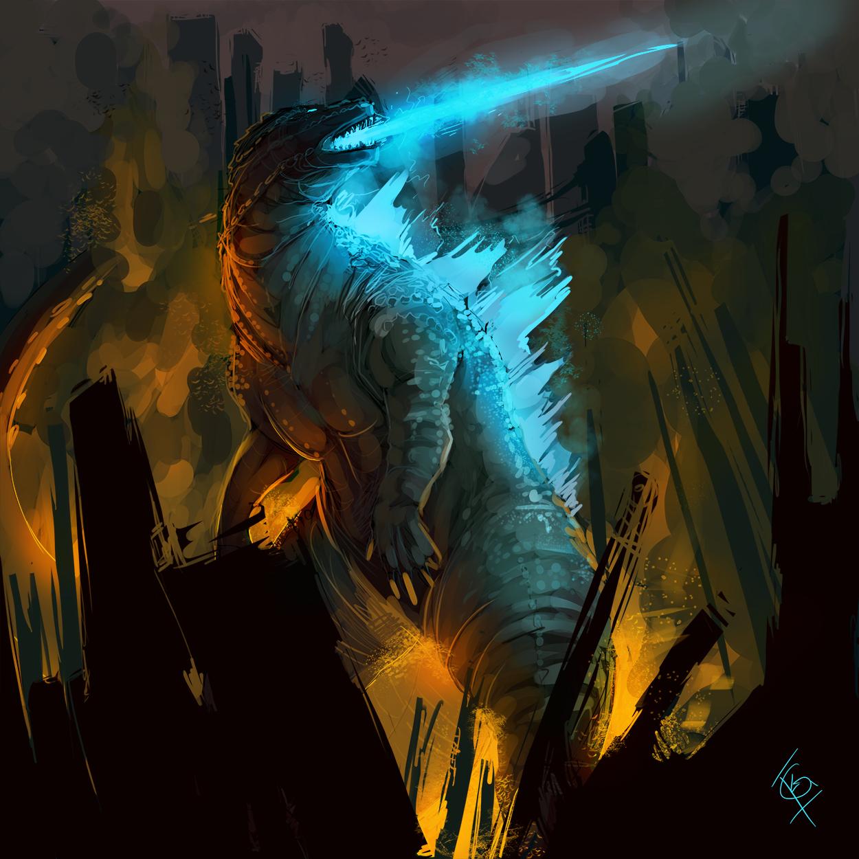 Godzilla - Gojira Speed Paint