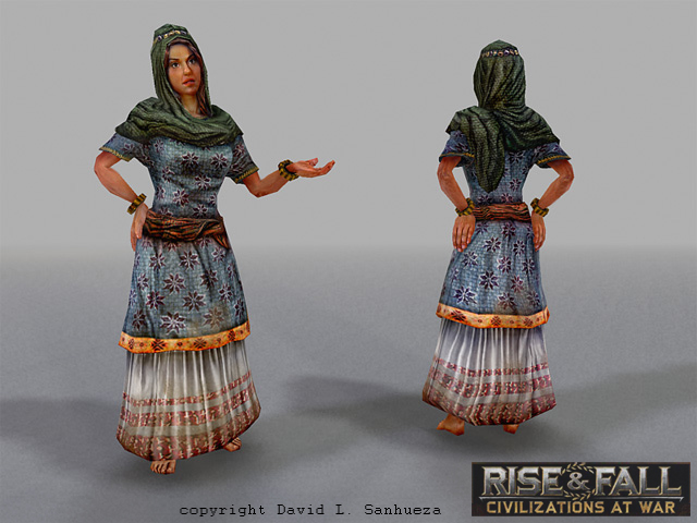 3D game character: Woman