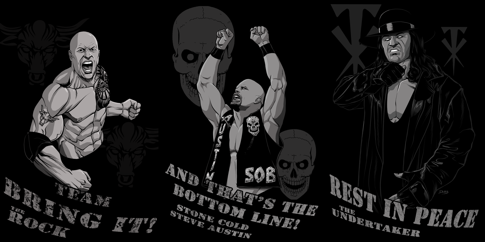 Rock, Stone Cold, and Undertak