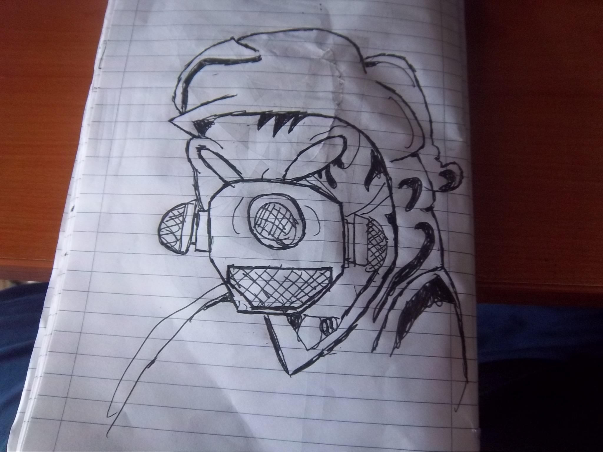 (wizzrd art) gas mask guy