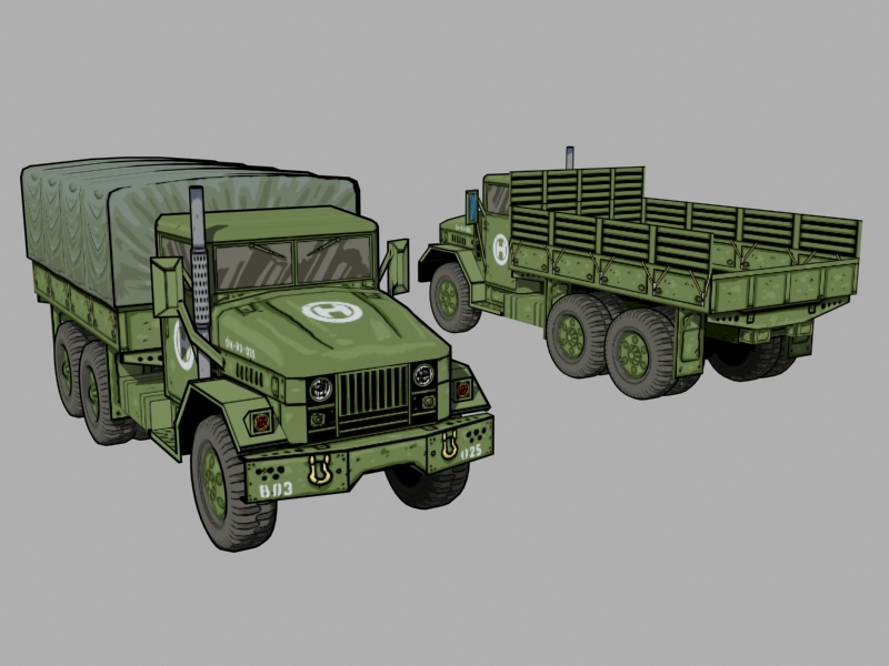 Cell shaded M35A truck