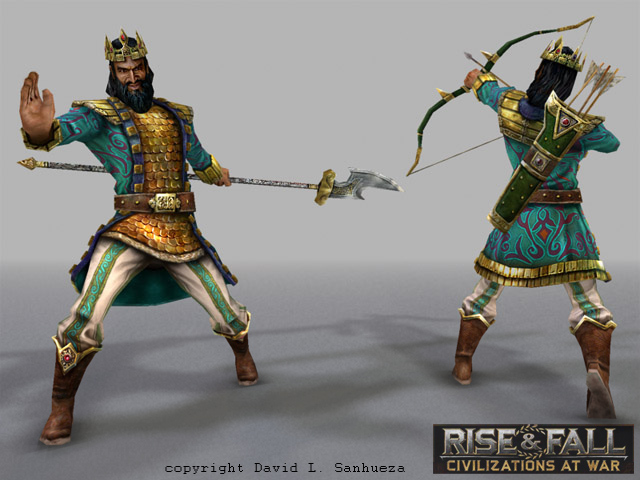 3D Game Character: Persia King