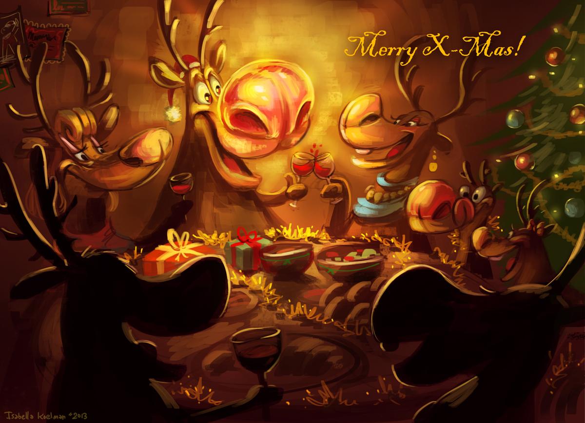 Reindeer Family Dinner