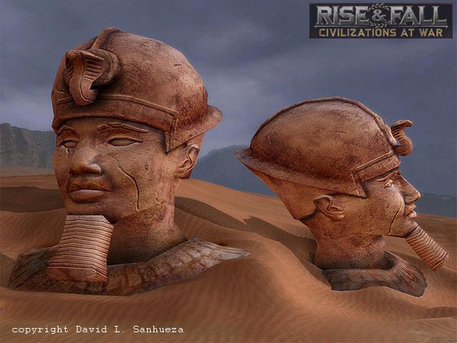 3D Game Model: Egyptian Statue