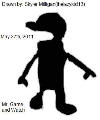 Mr. Game and Watch drawing
