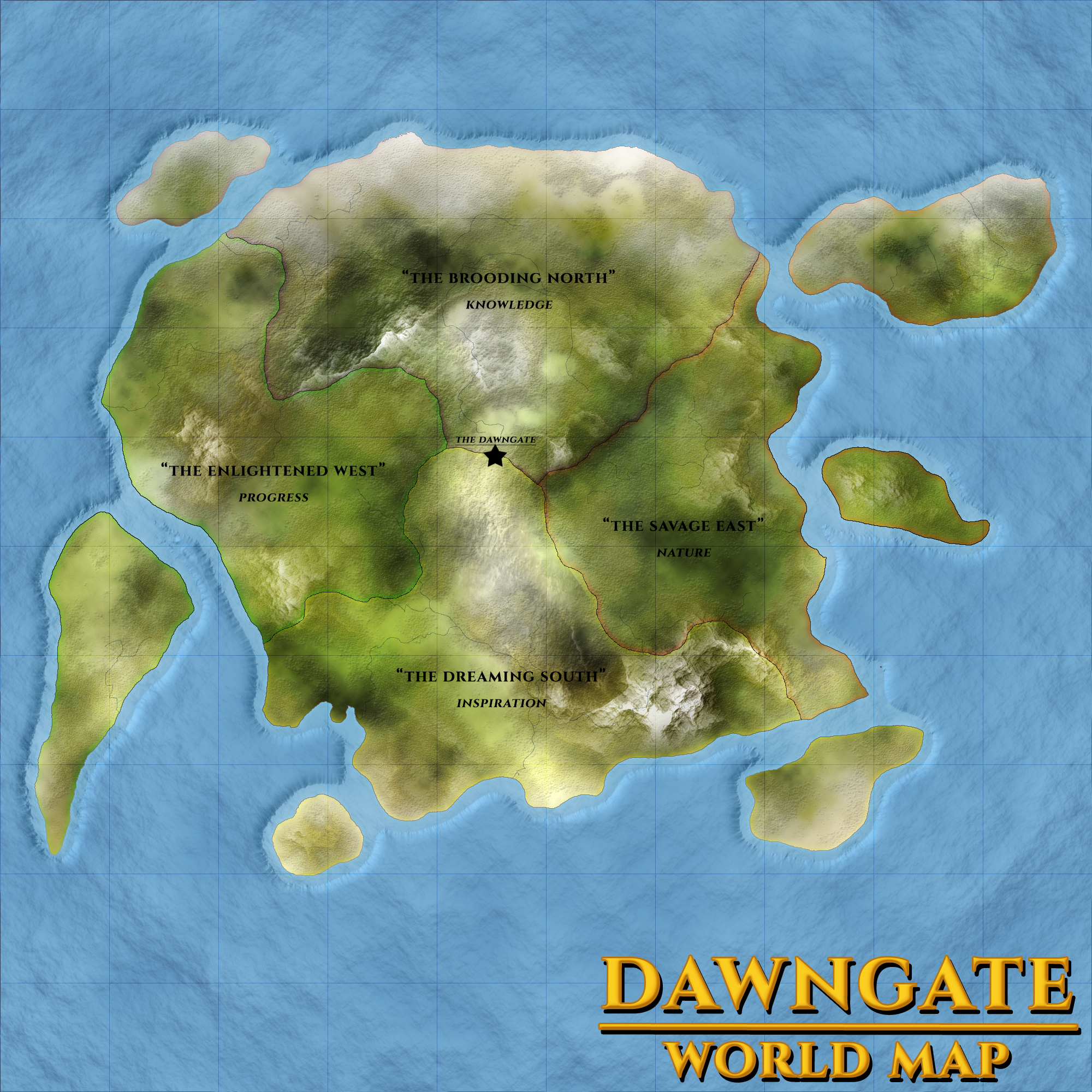 Dawngate World Map