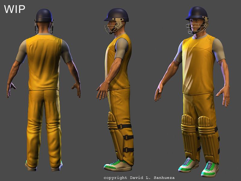 3D character model: Athlete