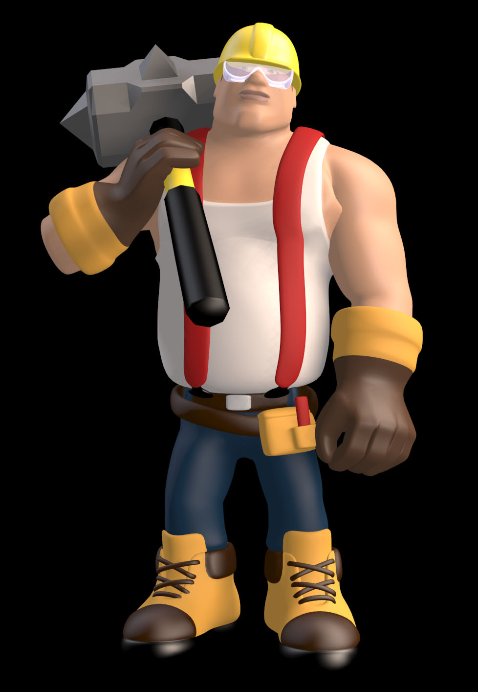 3D game character: Wrecker