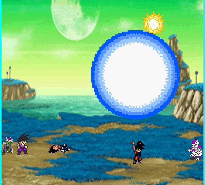 battle scene on namek