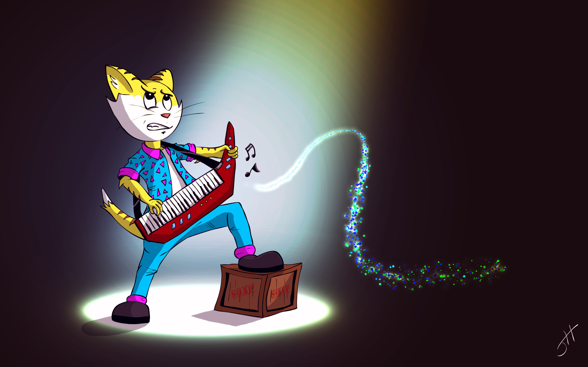 Take It Away Keytar Cat