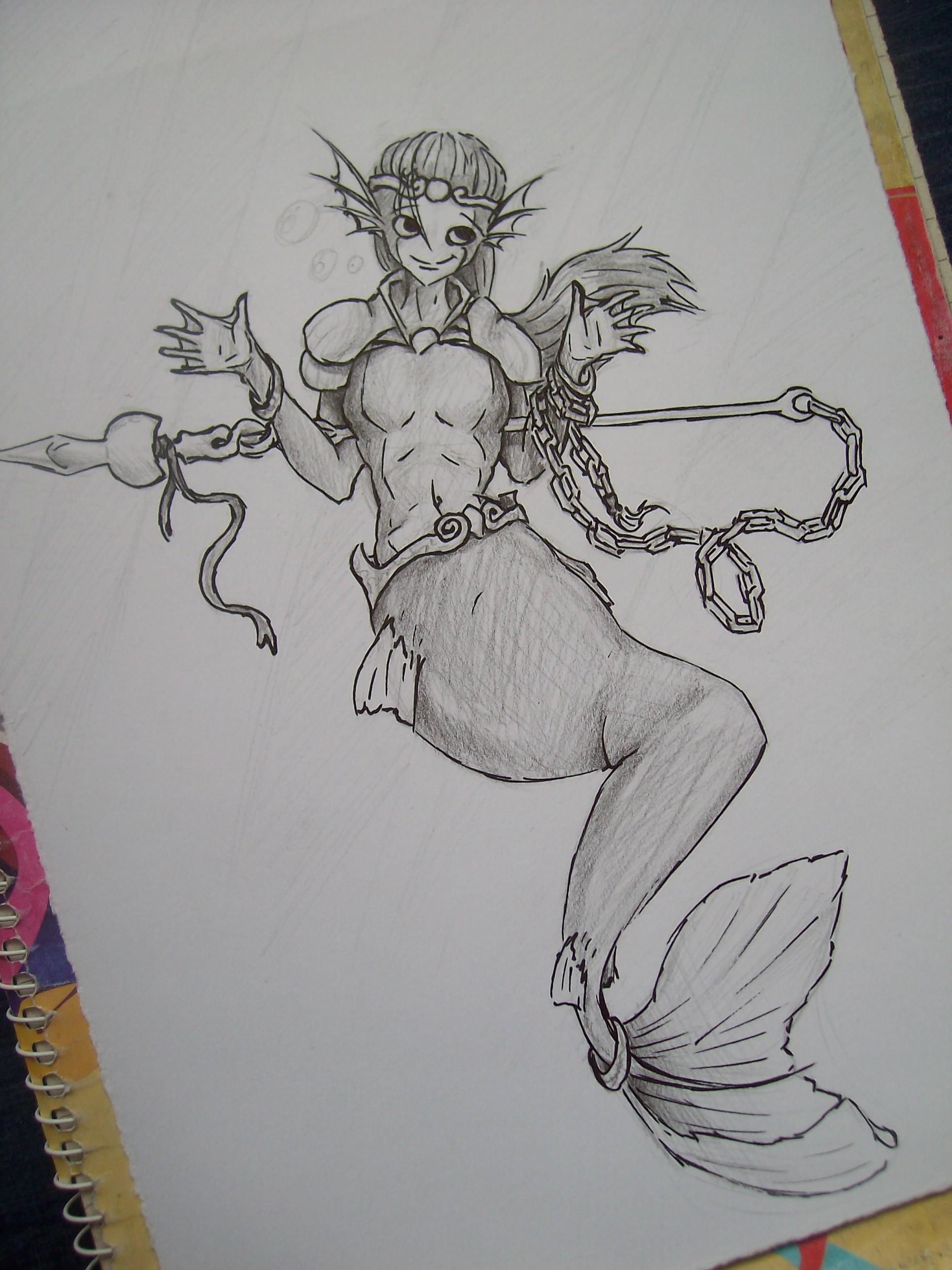 Sketch - Merman's apprentice