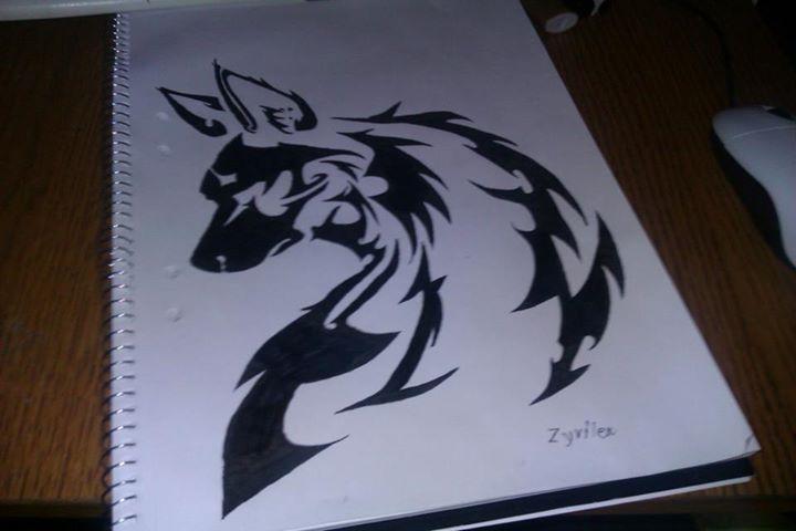 Tribal art- Wolf