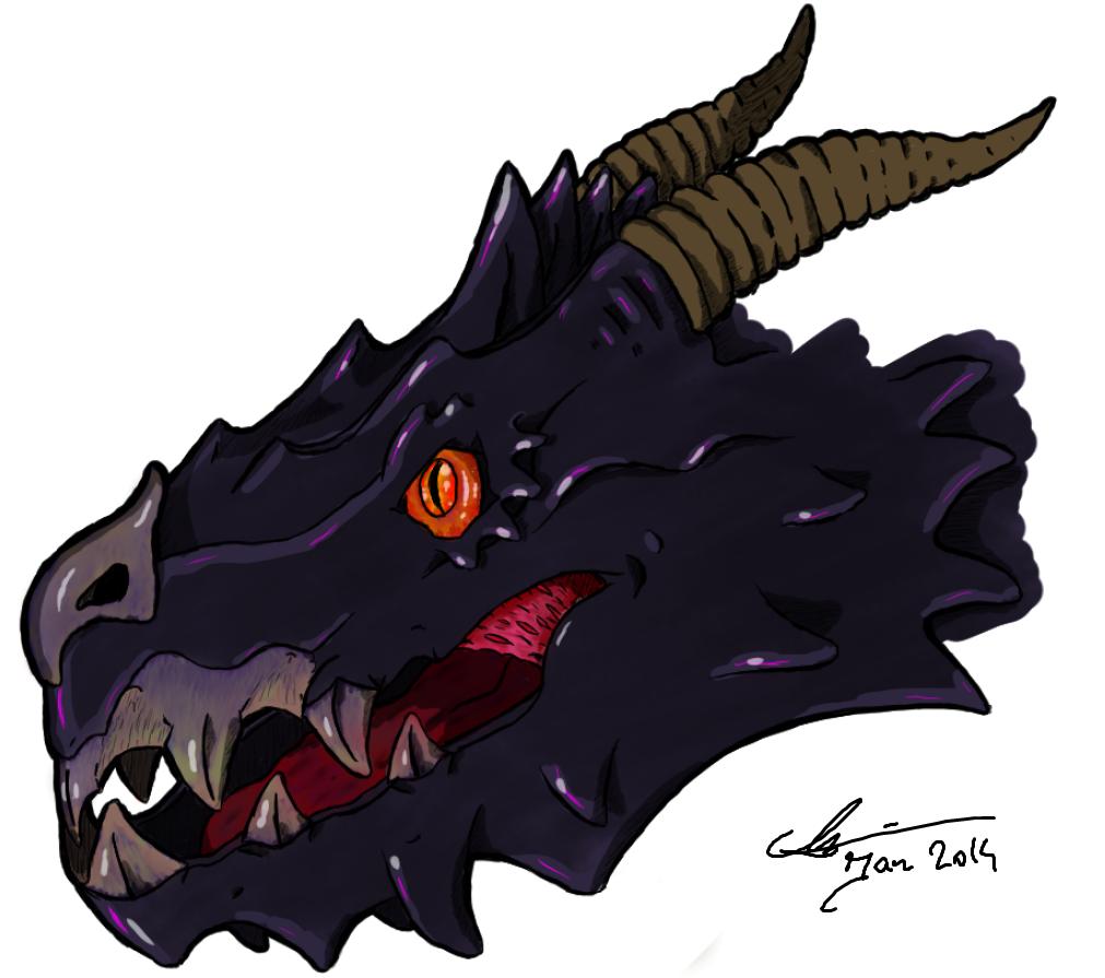 Custom Black dragon head