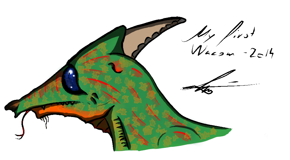 First tablet drawimg