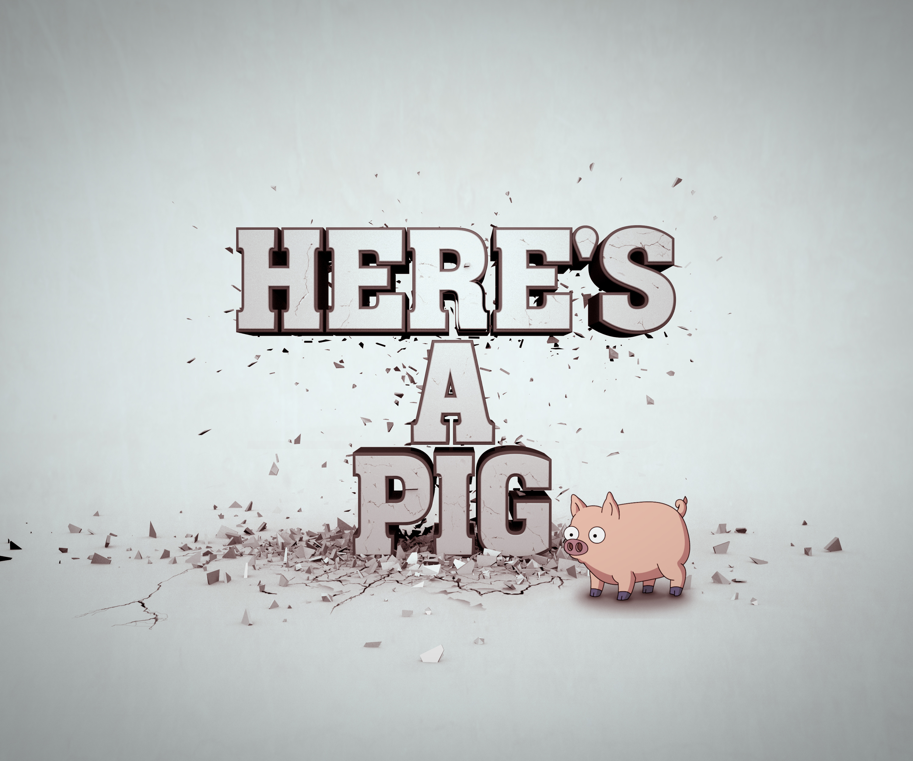 Here's A Pig Wallpaper