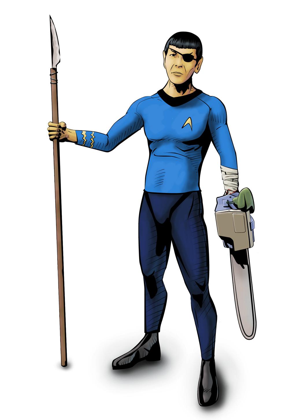 Chainsaw-arm Spock