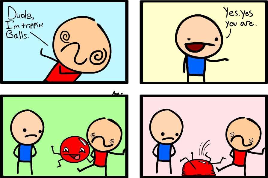Comic Strip | Trippin' Balls