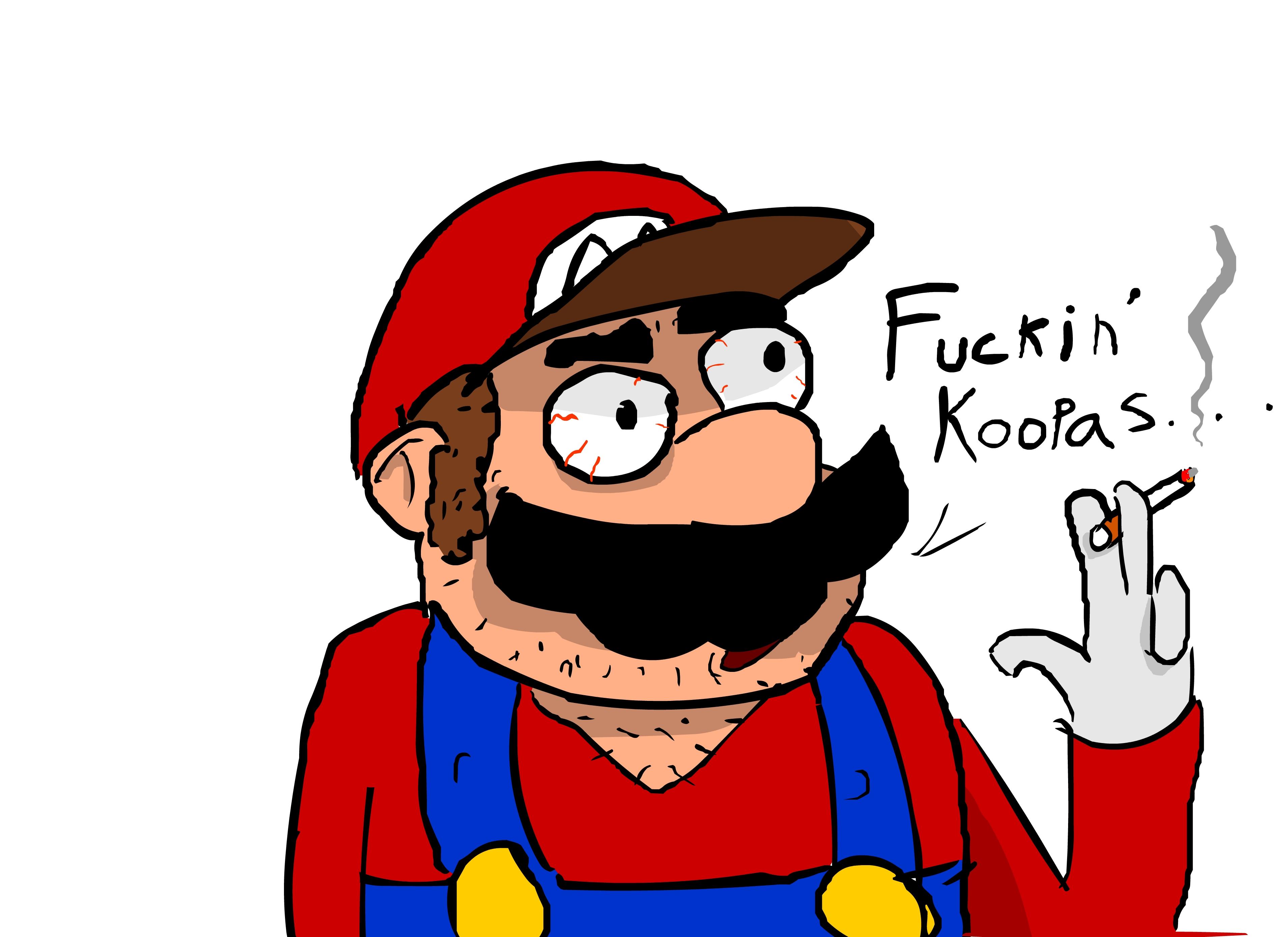 Smoking Mario