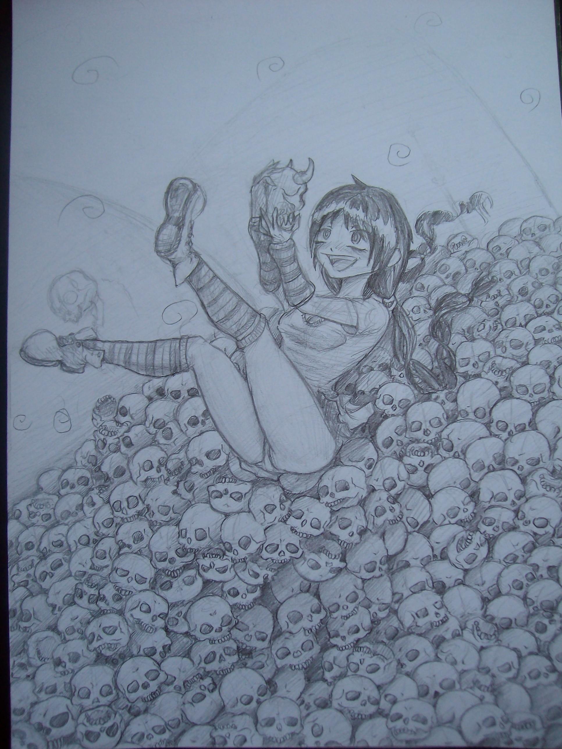 Sketch - SO MANY SKULLS~