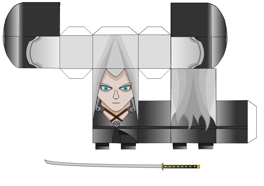 Sephiroth Paper Craft!