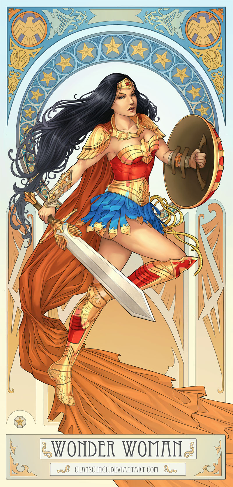 Wonder Woman (painting video)