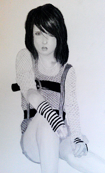 Pencil Drawing_ girl