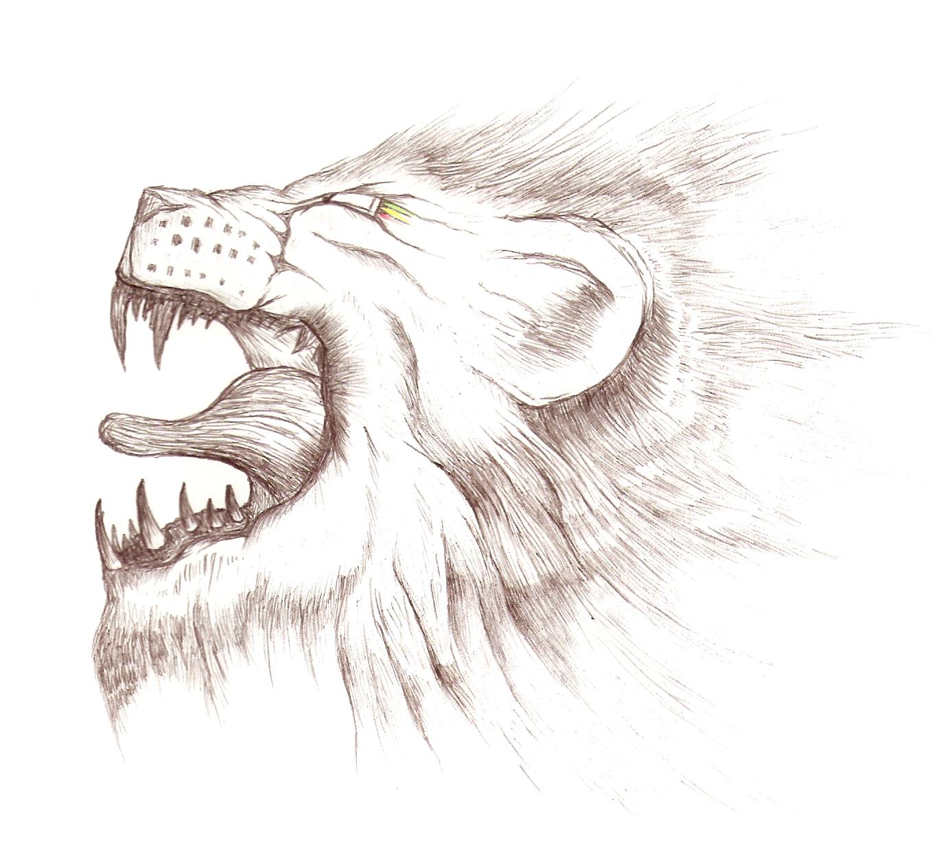 Inked Lion