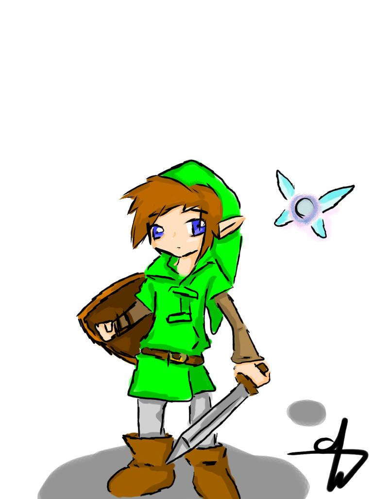 Kid Link and Navi- LOZ