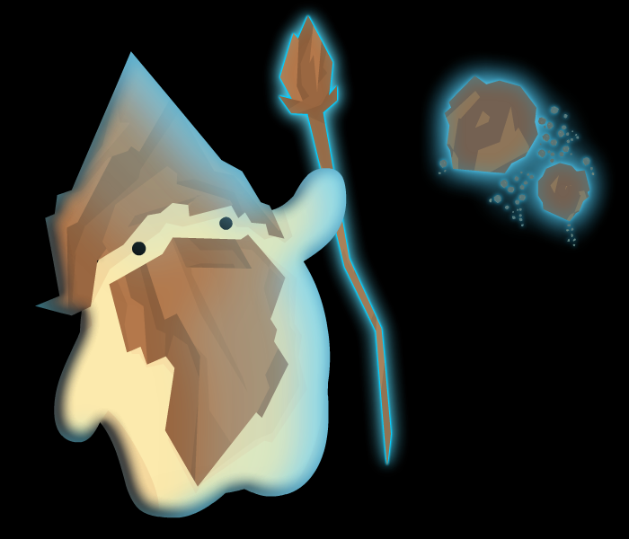Harmless Rock Wizard