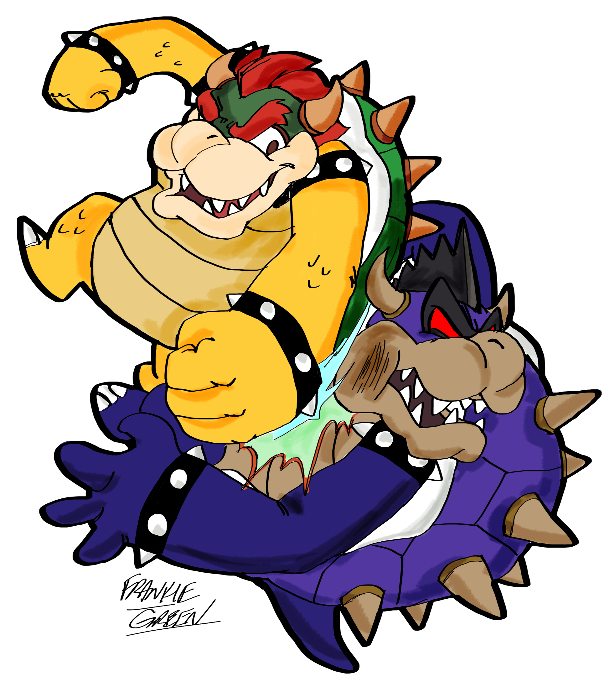 Bowser vs. Dark Bowser