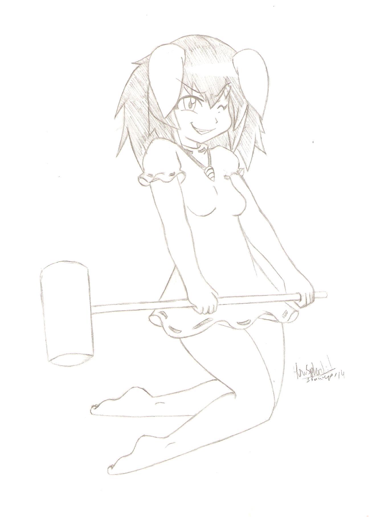 She's got a hammer!
