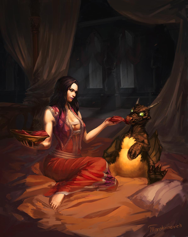 WoW fanart: Lady Onyxia
