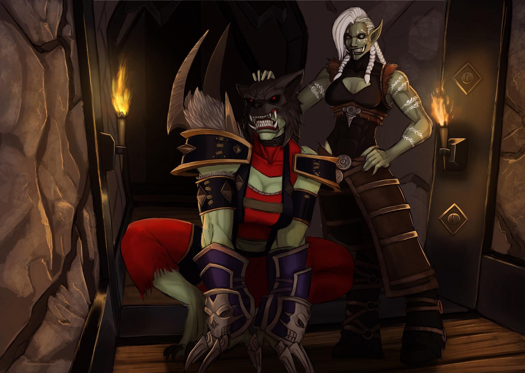 A Dark Shaman and her Hound