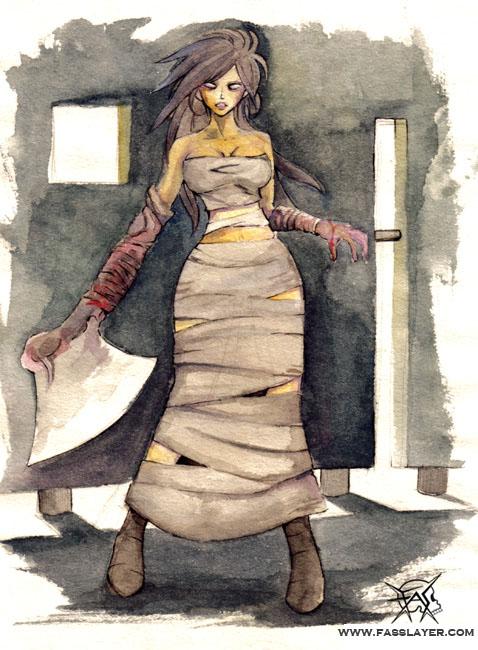 Zombie Axe Woman