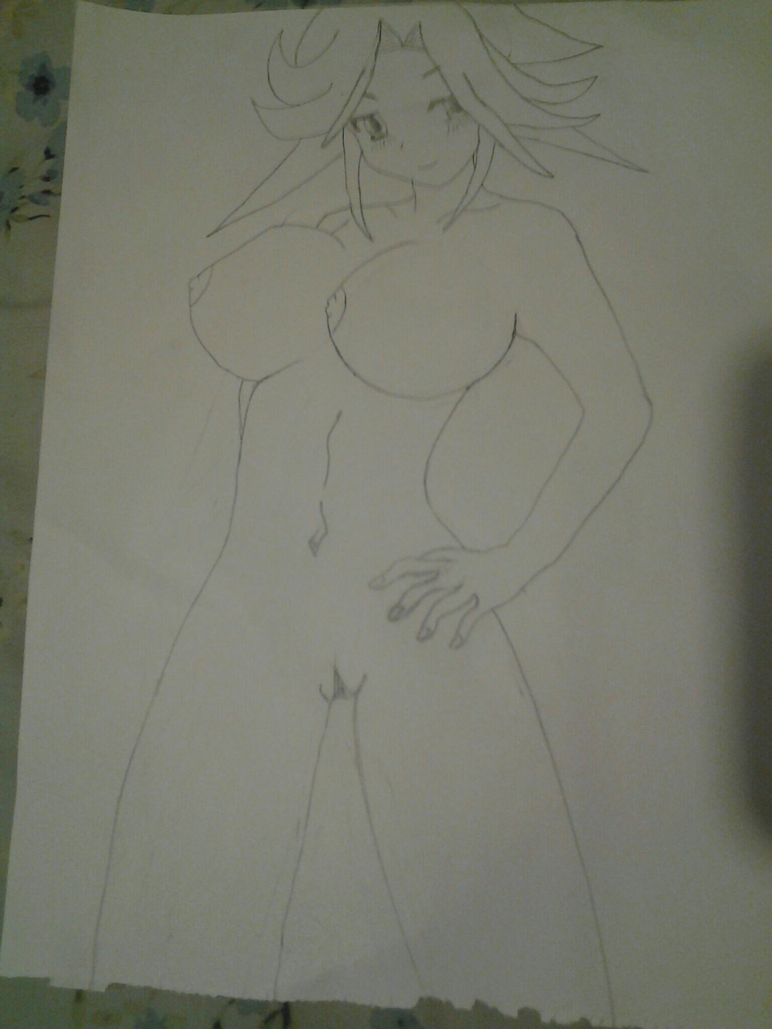 Aoichi:first nude girl drawing