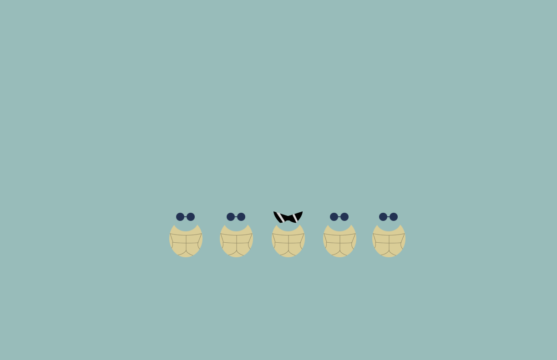 Minimalist Squirtle Squad