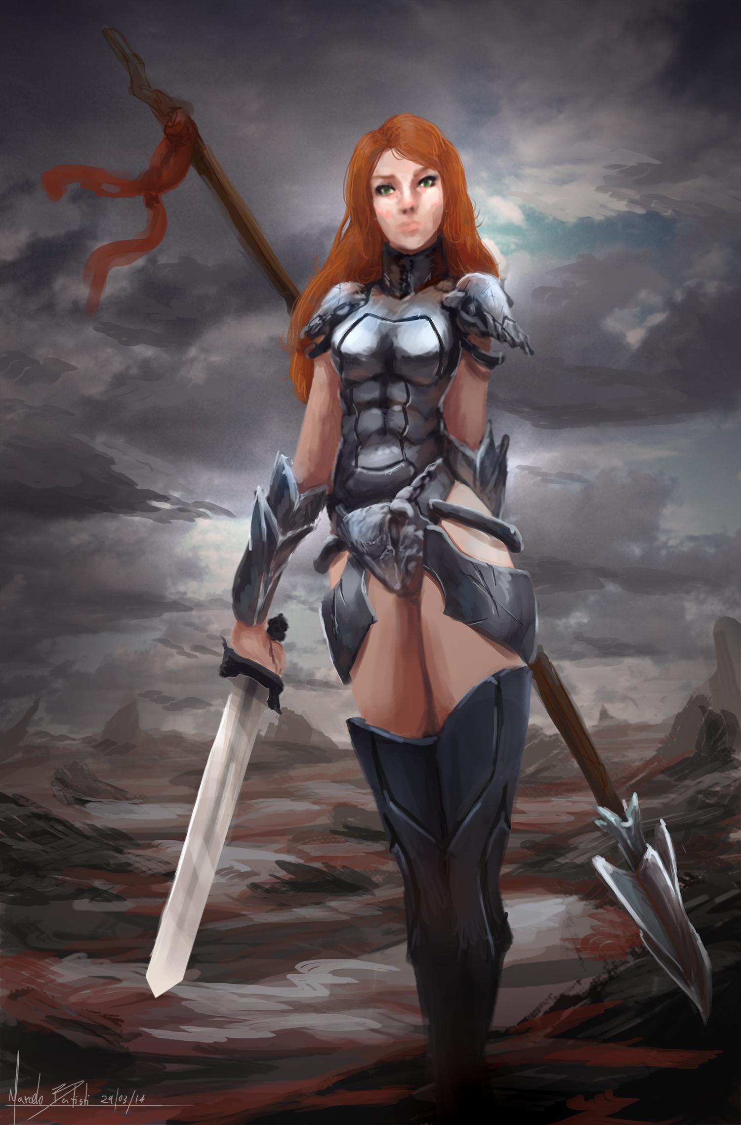 Vampire-warrior-girl naked pics