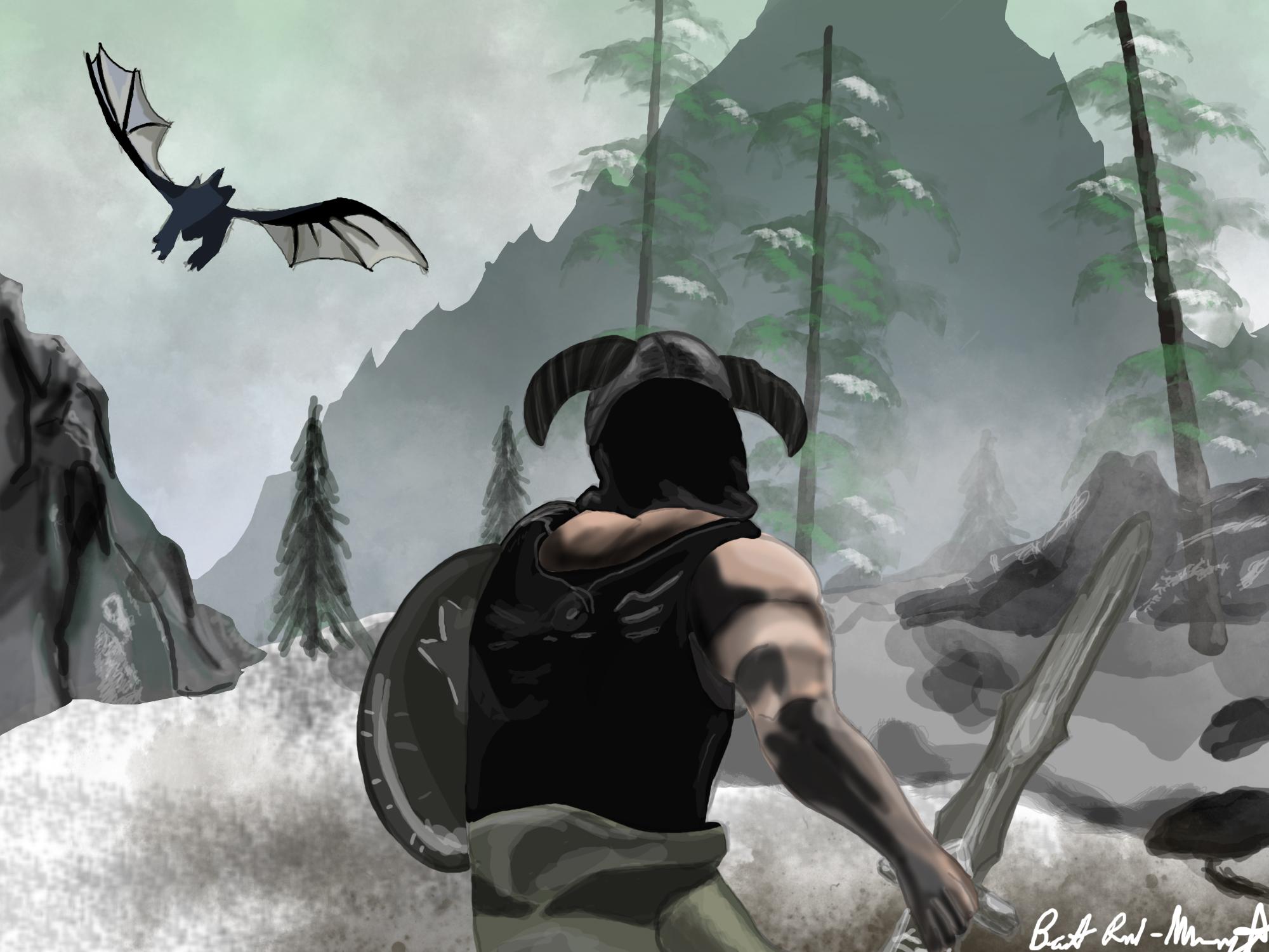 Skyrim Dragon Fight