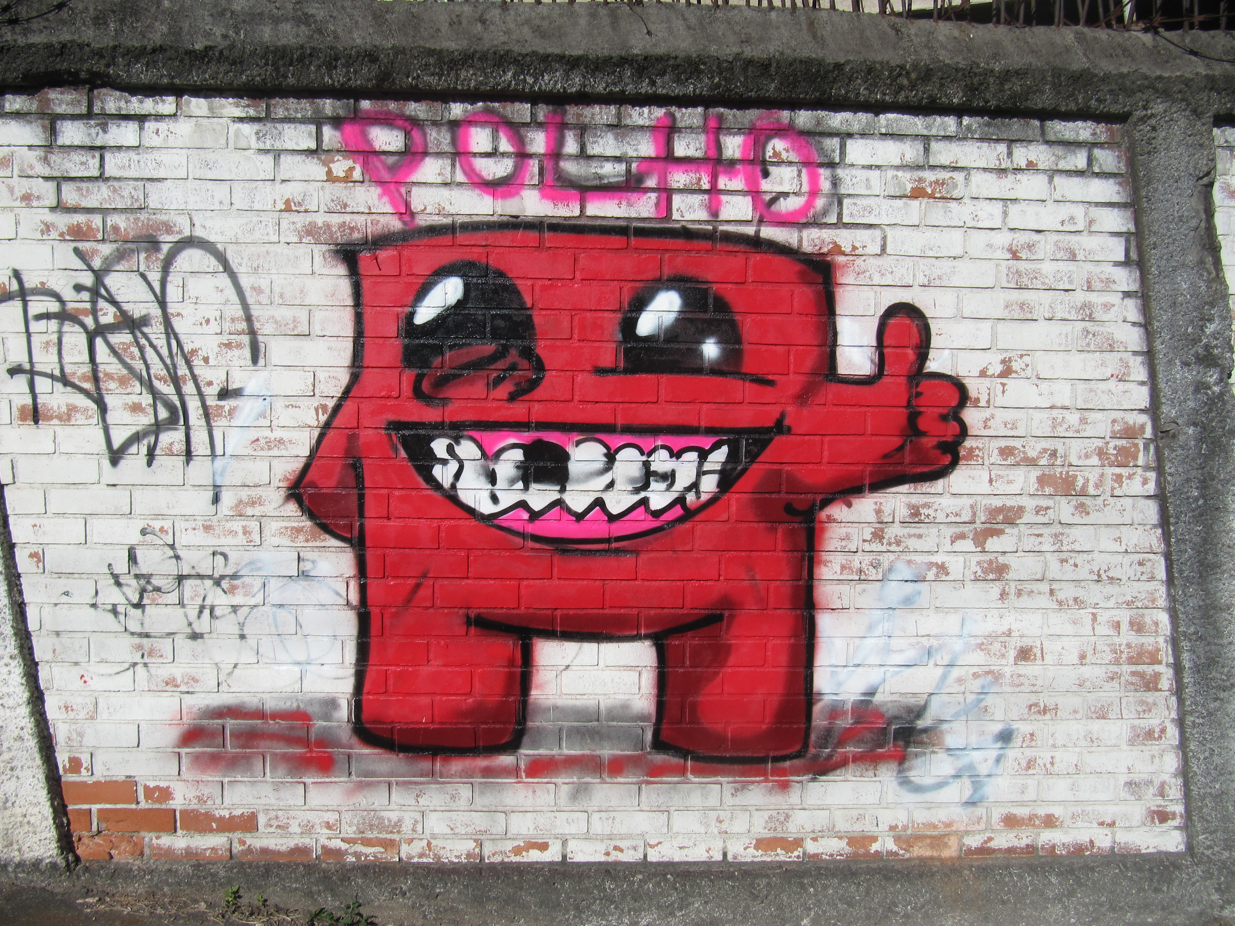 Super Meat Boy Street Art