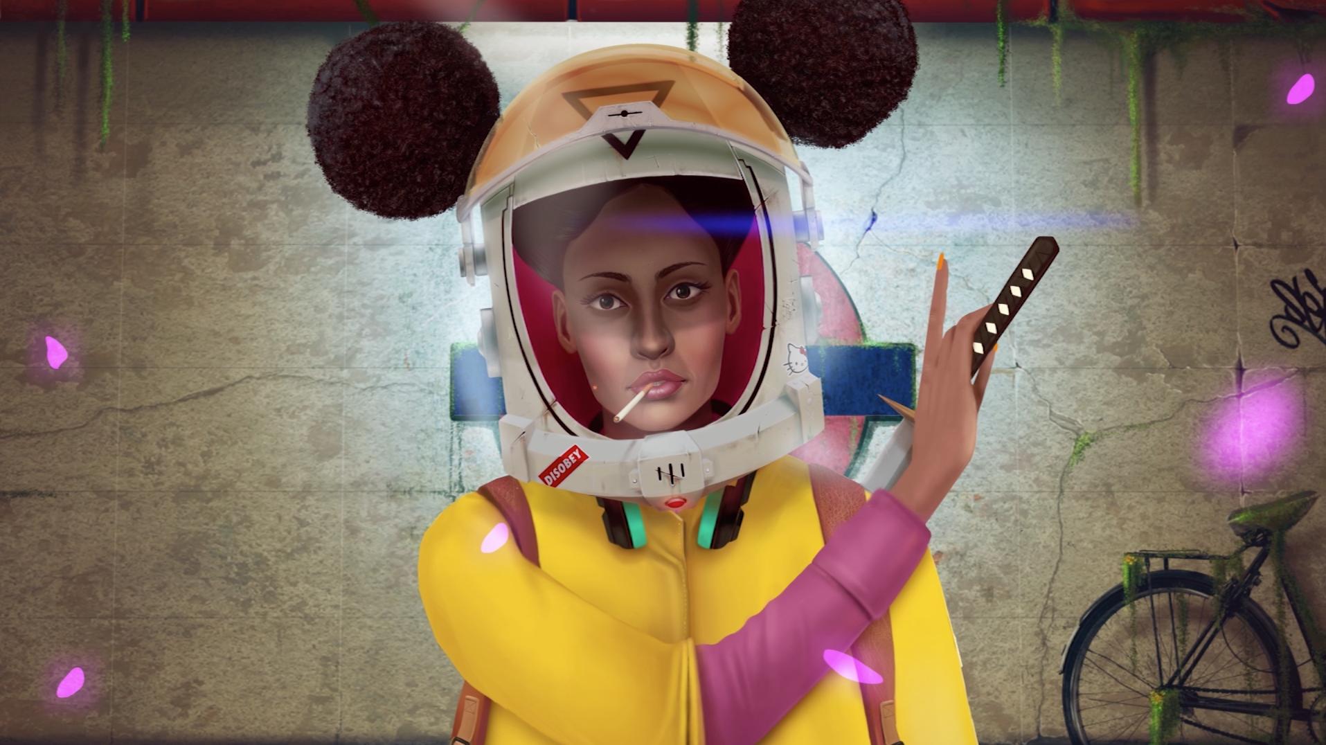 Afronaut the astronaut samurai