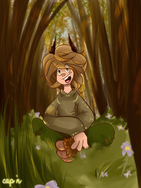 A child from the woods