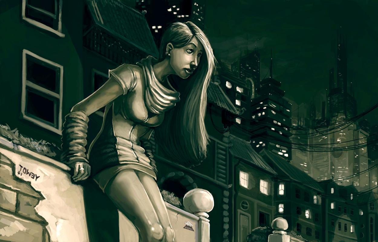 Waiting cityscape