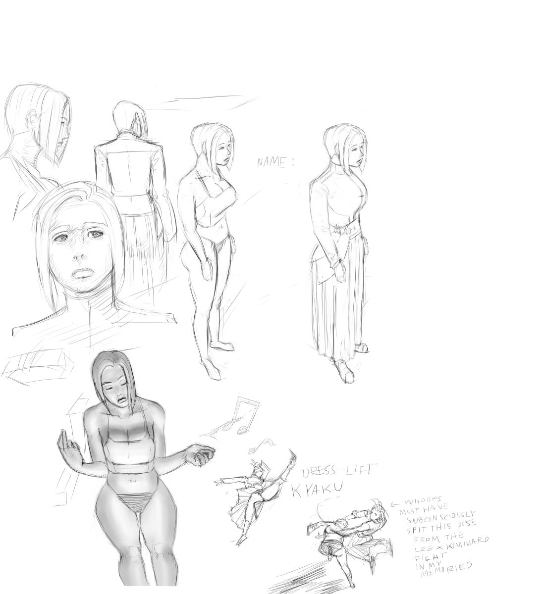 Kaylie - First Sketch