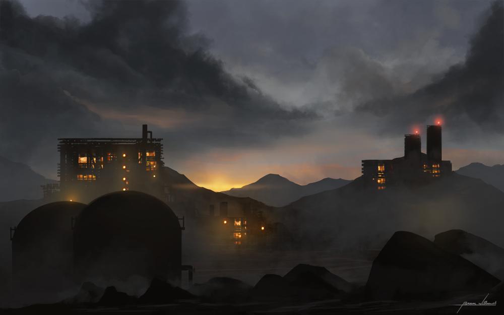 Dusk factory