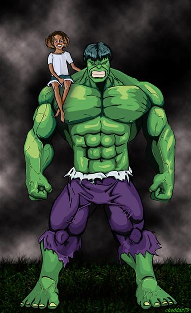 Hulk with Girl